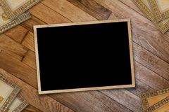 A stack of old postcards and frames Royalty Free Stock Photo