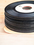 Stack of old 45 recordings Stock Images