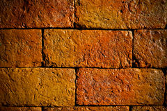 Stack of old red bricks Royalty Free Stock Photo