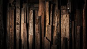 Dark Vintage Weathered Reclaimed Wooden Background royalty free stock photos
