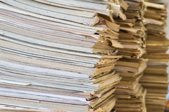 A stack of old school notebooks. Multicolored cover.  stock image