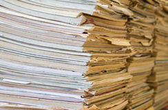 A stack of old school notebooks. Multicolored cover.  royalty free stock images