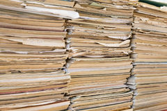 A stack of old school notebooks. Multicolored cover.  royalty free stock photo