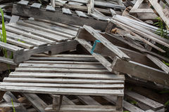 Stack of old scrap pallets Stock Photography