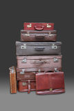 Stack of suitcases and luggage Royalty Free Stock Photos