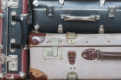 A stack of old suitcases Royalty Free Stock Photo