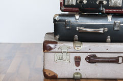 A stack of old suitcases Royalty Free Stock Image