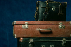 Stack of old suitcases Stock Photos