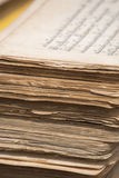 Stack of old Tibetan manuscripts Royalty Free Stock Images