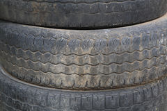 Stack of Old tire texture Stock Photo