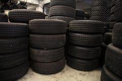 Stack of old tires. ' arrangement Stock Image