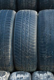 Stack of Old Tires. Big stack of old tires royalty free stock images