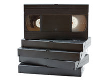 Stack of old video cassettes Royalty Free Stock Photography