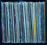 Stack of old vinyl records Royalty Free Stock Photos