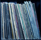 Stack of old vinyl records Stock Images