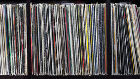 Stack of old vinyl records Royalty Free Stock Images