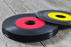 Stack of old vinyl records Royalty Free Stock Photography