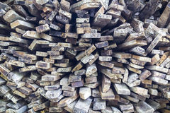 Stack of old wooden bars Royalty Free Stock Images