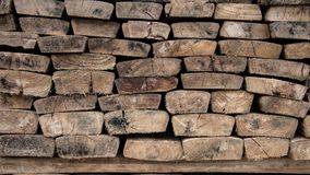 Stack of old wooden planks Stock Images