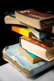 Stack of old and worn books Stock Images