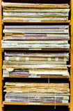 Stack of old worn out documents Stock Image
