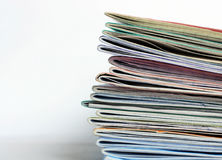 Stack of old writing-books Royalty Free Stock Images