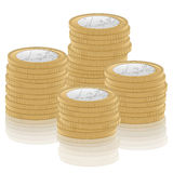 Stack one euro coin. S on white background Stock Image