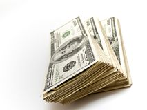 Stack of One Hundred Dollar Bills Royalty Free Stock Photography