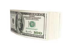 Stack of one hundred dollar bills Stock Photos
