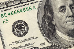Stack of one hundred dollar. Bills close-up Royalty Free Stock Image