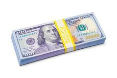 Ten Thousand Dollars royalty free stock photography