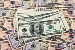 Stack of one hundred dollar bills Royalty Free Stock Photo