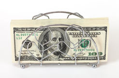 Stack of one hundred dollar bills Stock Images
