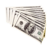 The stack of one hundred dollar Royalty Free Stock Image