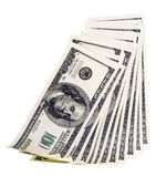 The stack of one hundred dollar Royalty Free Stock Photos