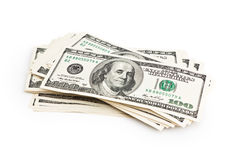 Stack of one hundred dollars Stock Photography