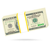 Stack of one hundred dollars Royalty Free Stock Image