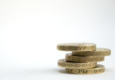 Stack of one pound coins Stock Images