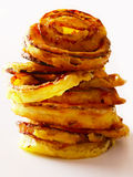 Stack of onion rings Stock Photos