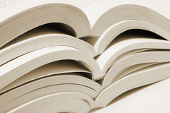 Stack of Open Books Stock Image