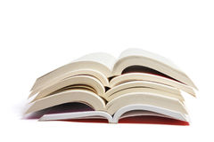 Stack of Open Books Royalty Free Stock Photos