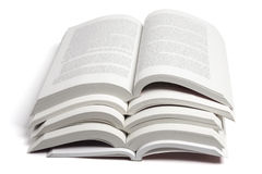 Stack of Open Books Stock Photo