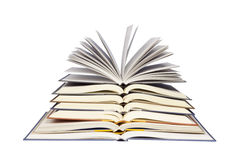 Stack of Open Books. With clipping path included Stock Images