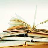 Stack of Open Books Royalty Free Stock Image