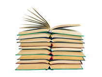 Stack of open books Stock Photos