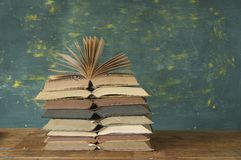 Stack of open books Stock Photography