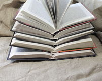 Stack of open books Royalty Free Stock Photography