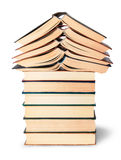 Stack of open and closed old books Royalty Free Stock Image