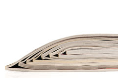Stack of open magazines Royalty Free Stock Photos