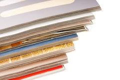 Stack of open magazines. Print, paper, press, publication Royalty Free Stock Image